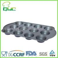 Buy cheap best non stick muffin pan Non-Stick Carbon Steel Twelve Hole Deep Muffin Baking Pan from wholesalers