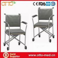 China Aluminum commode chair with wheels on sale