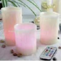 Set of 3 Multi colour LED candles with remote and timer Manufactures