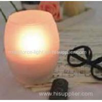 Remote controlled Amber colour LED candle Manufactures