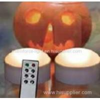 China Set of 2 battery-operated LED candles with remote and timer on sale