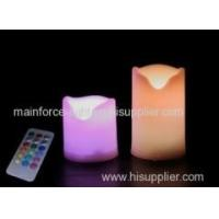Set of 2 battery-operated multi-color LED candles with remote and timer Manufactures