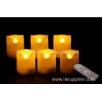 Set of 6 battery-operated LED candles with remote