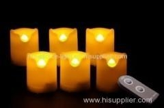 Quality Set of 6 battery-operated LED candles with remote for sale