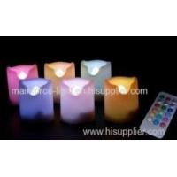 Set of 6 battery-operated multi-color LED votives with remote and timer Manufactures