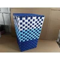 Colorful handmade woven plastic toy storage bins Manufactures