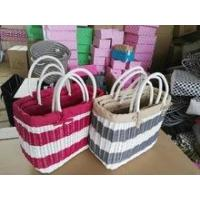Buy cheap 100% Handmade woven woman pattern shoulder bag lady handbags from wholesalers
