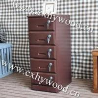 wooden movable office chest of drawers with lockers Manufactures