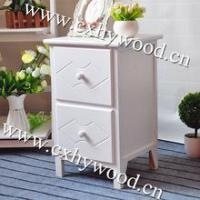 Morden White Night Table With short legs and 2 Drawers Manufactures