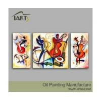 Handpainted Oil Painting Group Oil Painting Design Abstract painting 3 pieces Manufactures