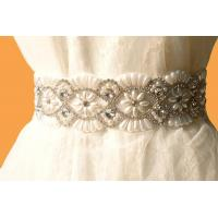 Bridal Accessories / Crystal Rhinestone Bridal Sash / Vintage /Royal Steyle