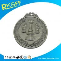 China Zinc Alloy Chess Silver Medals wholesale