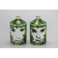 different face design decoration ceramic jar for candle wholesale Manufactures