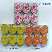 China Beautiful Flowers Tealight Candle Romantic Gifts Colorful Decoration Tealight Candle on sale