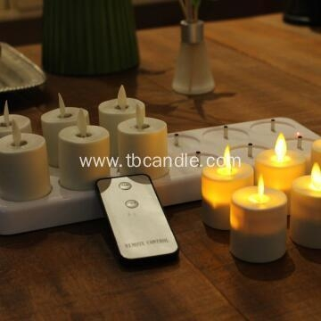 Quality flameless flickering luminara rechargeable led tea light candles with remote control for sale