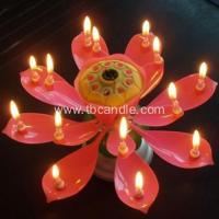 China Double Layers 14 little Candles Music Rotating Candle on sale