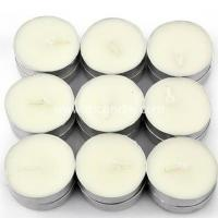 China scented white tea light candles with an aluminum base on sale