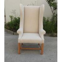 China American style high back wing chair french style wood chair with armrest on sale