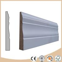 China WPC Vinyl Flooring White primed MDF skirting board / baseboard molding for flooring on sale