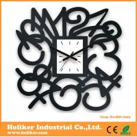Creative black acrylic wall art decor clock Manufactures