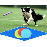 Promotional customized silicone dog foldable frisbee for dog