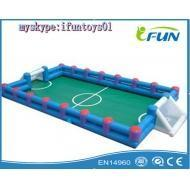 China soccer field inflatable foosball table field for players Product ID:FB-037 on sale