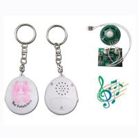 High quality round musical chip key chain Manufactures