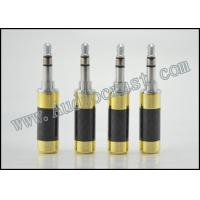 2p Gold plated cover and Rhodium Body 3.5mm Mini Jack Stereo Plug Connector Carbon Fiber Manufactures