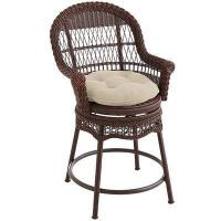 Outdoor Sunset Pier Chesnut Brown Swivel Counter Stool Manufactures
