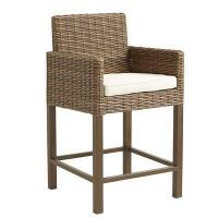 Outdoor Echo Beach Counter Stool - Latte Manufactures
