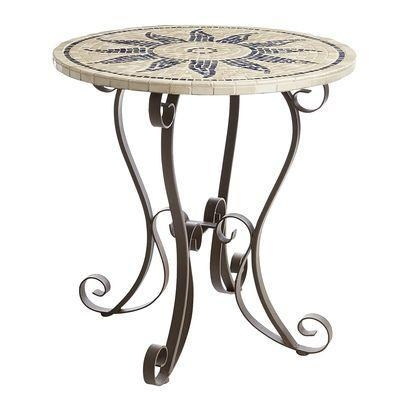 """Quality Outdoor Esenia 30"""" Mosaic Bistro Table for sale"""