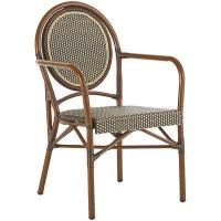 Outdoor Woven Mocha Bistro Chair Manufactures