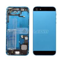 Battery Cover Complete For iPhone 5 Grade Blue-Black Manufactures