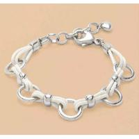 China Stainless steel bracelet & bangles Leather & Stainless steel Bracelet on sale