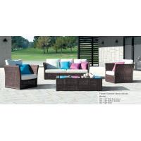 China Flower outdoor rattan sofa set with cushion on sale