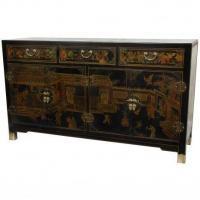 Buy cheap Fine Lacquer Furniture Black Lacquer Large Buffet Table from wholesalers
