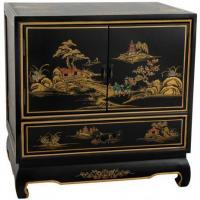 Buy cheap Fine Lacquer Furniture Black Lacquer Nightstand from wholesalers
