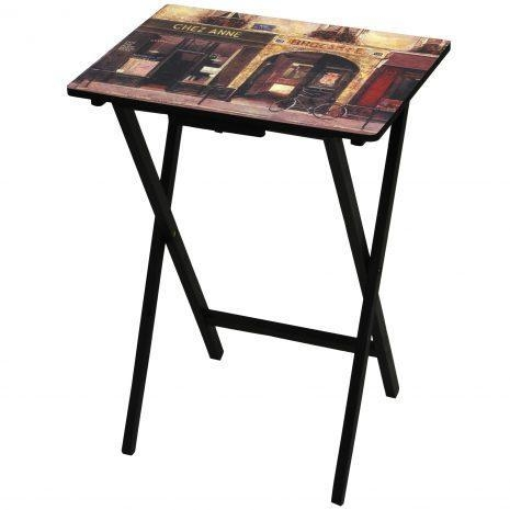 Quality Tables & Chairs Parisian Cafe TV Tray for sale