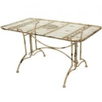Tables & Chairs Rustic Rectangular Garden Table - White Manufactures