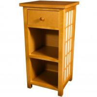 Tables & Chairs Shoji End Table with Shelves Manufactures