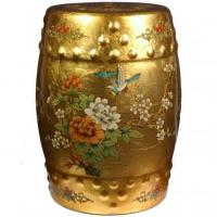 Buy cheap Fine Lacquer Furniture Golden Garden Stool from wholesalers