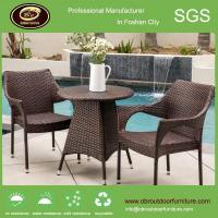 China Patio wholesale chairs and tables set aluminium PE rattan chairs and table on sale