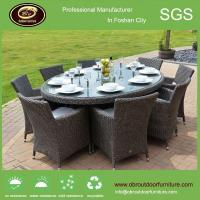 Outdoor wholesale ratan round dining table glass top chairs and tables Manufactures