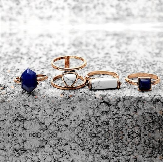 Quality Original Vintage European And American Minimalist Combination Packages Turquoise Lapis Lazuli Mosaic for sale