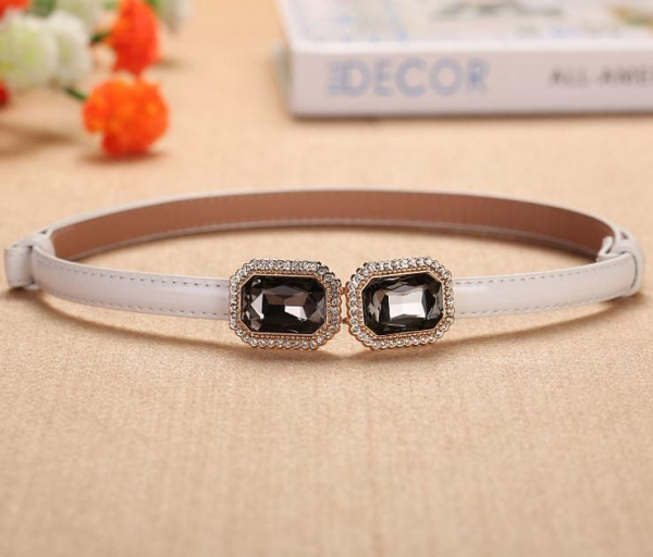 Quality Adjustable Thin Belt With Diamonds Buckle For Women for sale