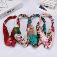 Buy cheap Printing Knot Elasticity Headband Paternity Headwarp Cotton Girls Hair Accessories For Women from wholesalers