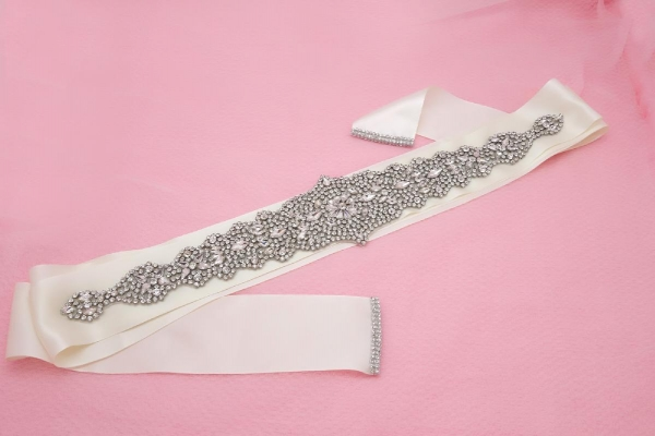 Quality Bridal Accessories / Full Handmade / Shines With Rhinestones Wedding Belt for sale