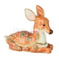 TBP0554-deer animal enameled box metal jewelry box collectible gifts Manufactures