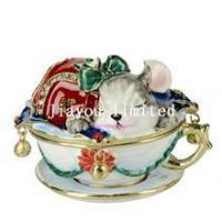 TBP0431-mouse in the cup trinket box jewelry organizer unique box Manufactures