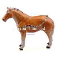 China TBP0014Y-horse trinket jewelry box horse figurine statue metal home decor on sale